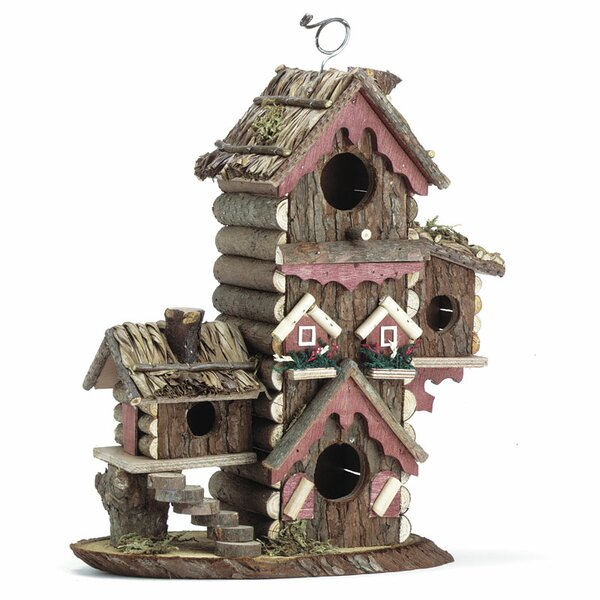 Tree Bark 12.5 in x 10.5 in x 5.5 in Birdhouse by Zingz & Thingz