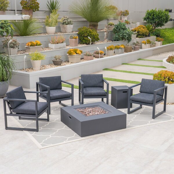 Seabrooks Outdoor 6 Piece Sofa Seating Group with Cushions by Ivy Bronx