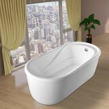Acrylic 67 x 32 Freestanding Soaking Bathtub by Vanity Art