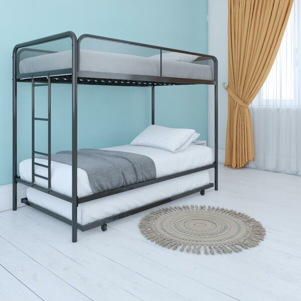 Cheryll Twin over Twin Bunk Bed with Trundle by Harriet Bee