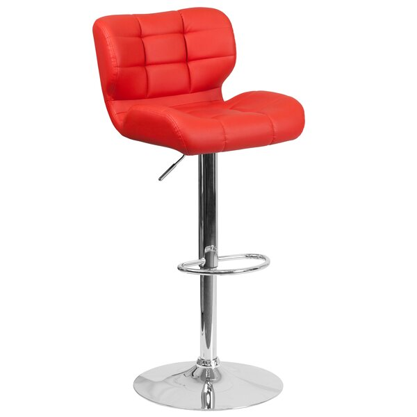 Noren Adjustable Height Swivel Bar Stool by Orren Ellis