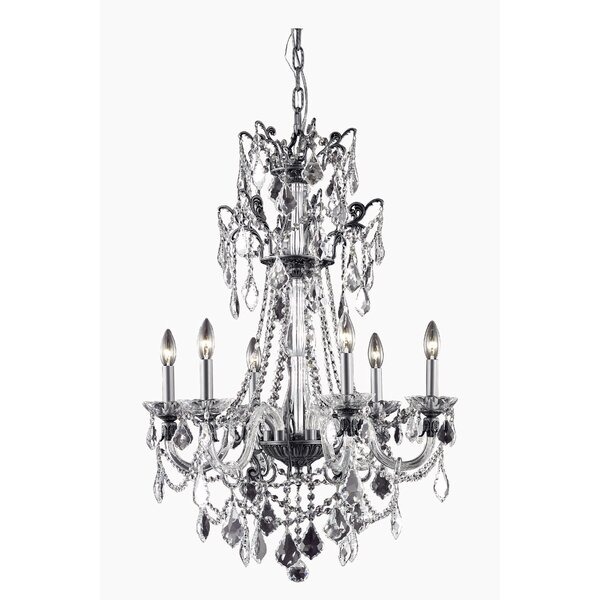 Johnsie 6 - Light Candle Style Empire Chandelier By Rosdorf Park
