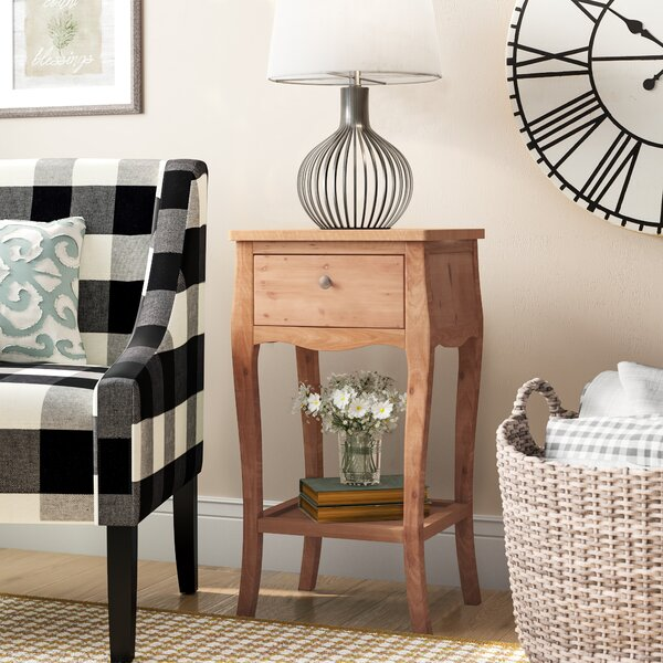 Joanna Solid Wood End Table With Storage By Lark Manor
