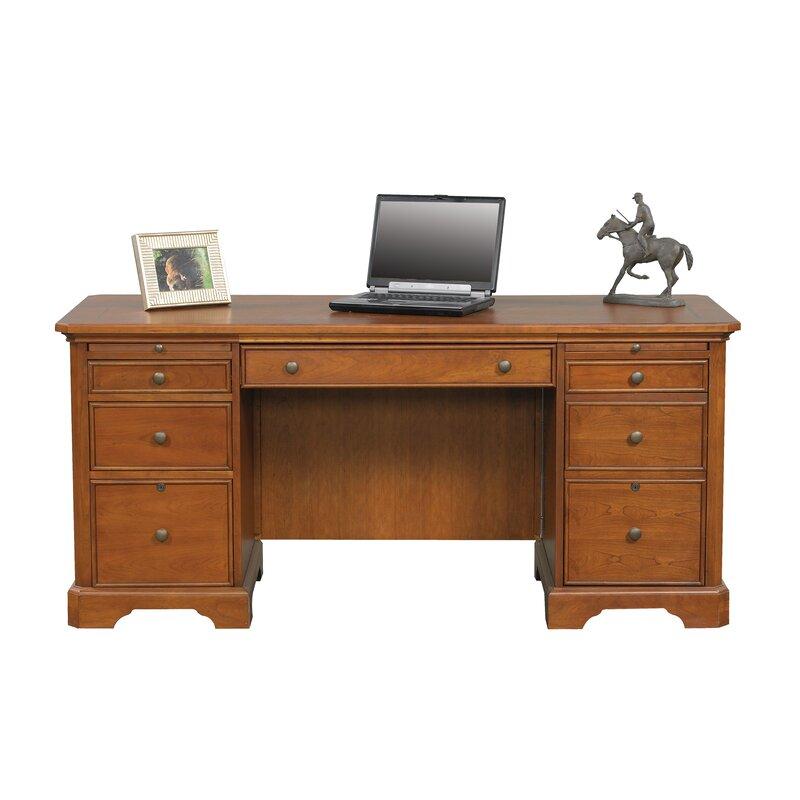 Alcott Hill Parnell Flat Top Executive Desk & Reviews ...