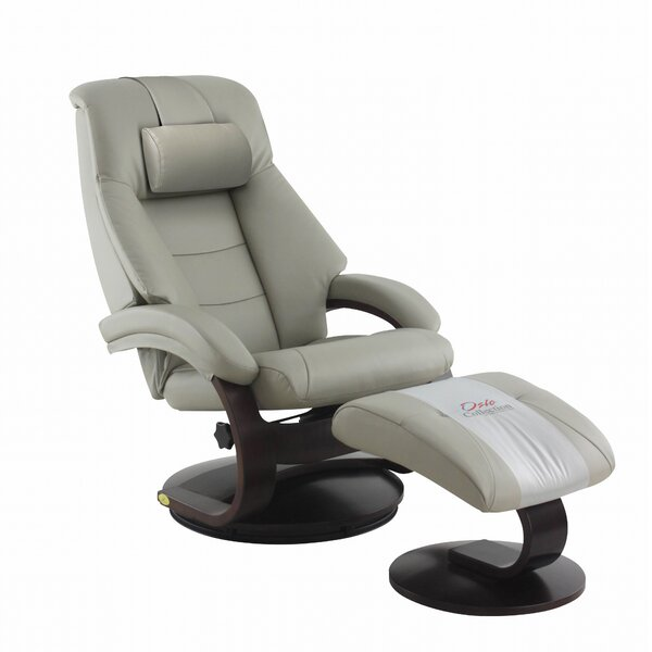 Milan Manual Swivel Recliner With Ottoman By New Ridge Home Goods