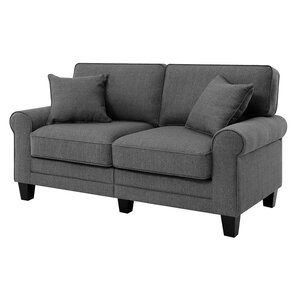 Beachcrest Home Buxton 61 Rolled Arm Loveseat