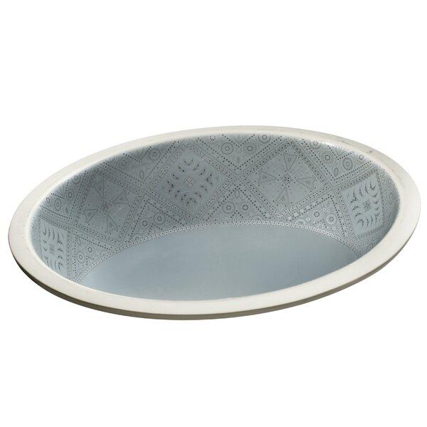 Caravan Ceramic Oval Undermount Bathroom Sink by Kohler