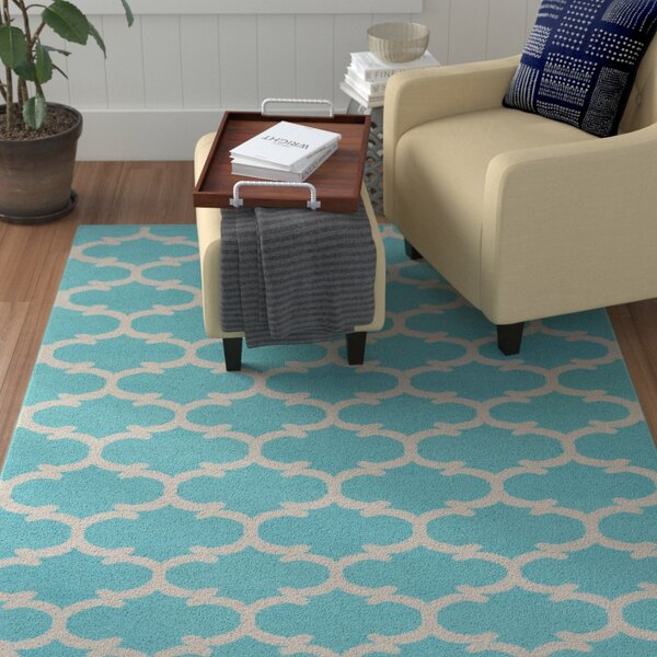 Ayles Teal/Ivory Area Rug by Winston Porter