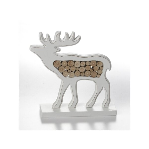 Schott Wooden Moose Decoration by The Holiday Aisle