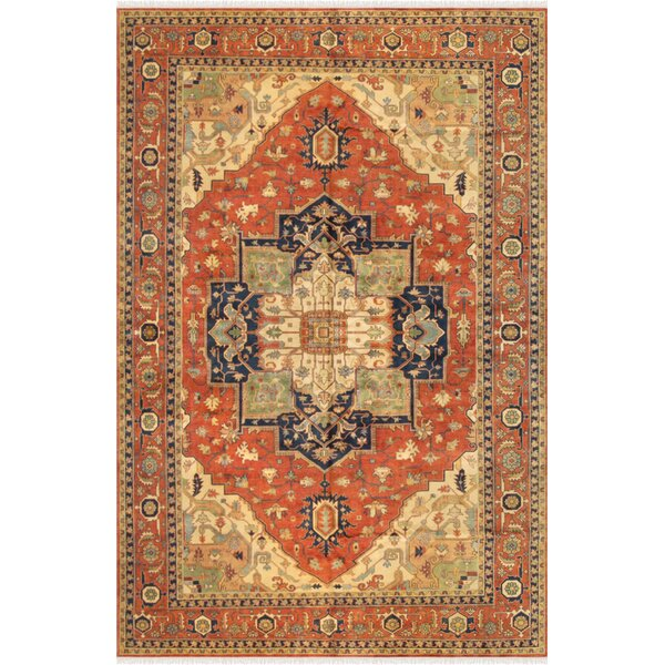 Serapi Hand-Knotted Rust/Tan Area Rug by Pasargad