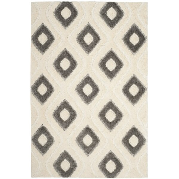 Helms Cream/Gray Area Rug by Wrought Studio