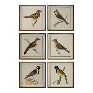 Spring Soldiers Bird 6 Piece Framed Graphic Art Set by Loon Peak