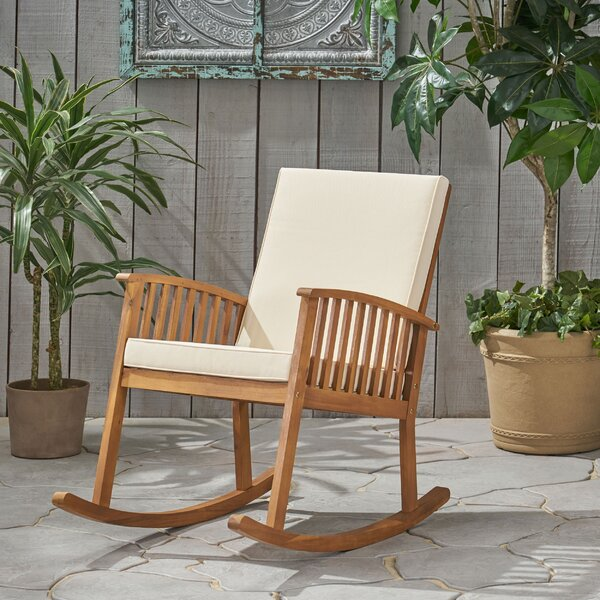 Stamm Rocking Chair with Cushions by Millwood Pines
