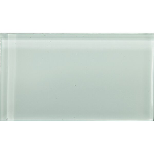 Lucente 3 x 6 Glass Subway Tile in Crystalline by Emser Tile