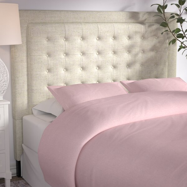 Woodside Upholstered Panel Headboard by Three Posts
