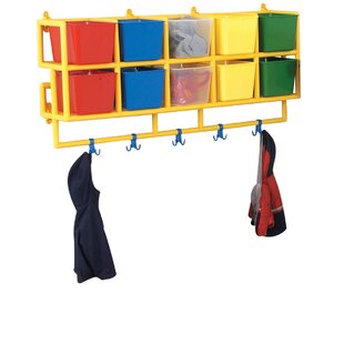 Check Prices X-Size 10 Compartment Cubby with Bins By Children's Factory