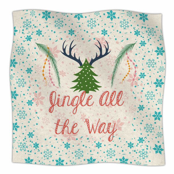 Jingle All The Way by Famenxt Fleece Blanket by East Urban Home