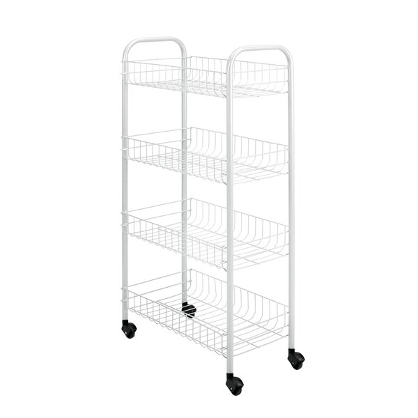 4 Tier Rolling Utility Cart by Metaltex