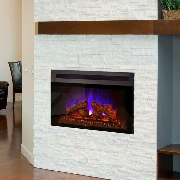 Kingsley Custom Designer Recessed  Electric Fireplace Insert by Orren Ellis Orren Ellis