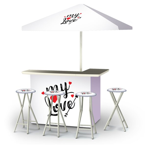 Aliquippa Valentines My Love 6-Piece Bar Set by East Urban Home
