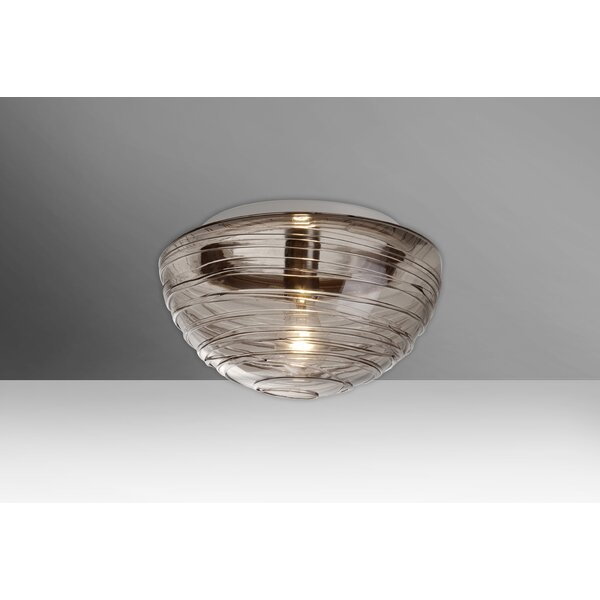 Wave 1-Light Outdoor Flush Mount by Besa Lighting