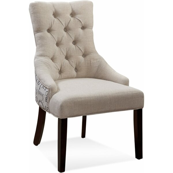 Ahearn Tufted Nailhead Parson Upholstered Dining Chair (Set of 2) by Darby Home Co Darby Home Co