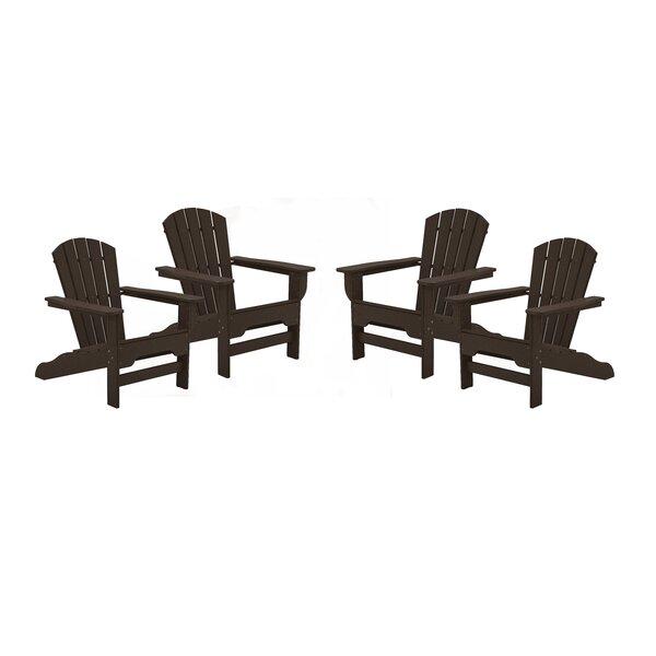 Strickland Plastic/Resin Adirondack Chair (Set of 4) by Breakwater Bay Breakwater Bay