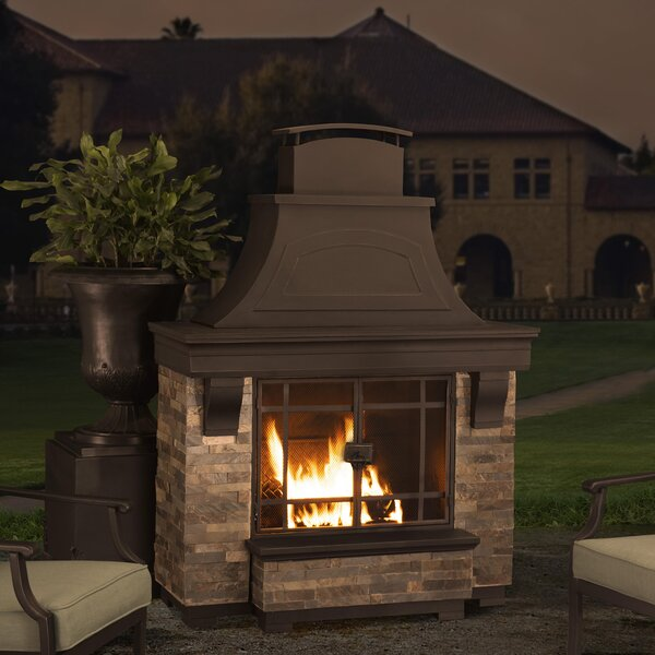 Pitzer Steel Outdoor Fireplace By Darby Home Co