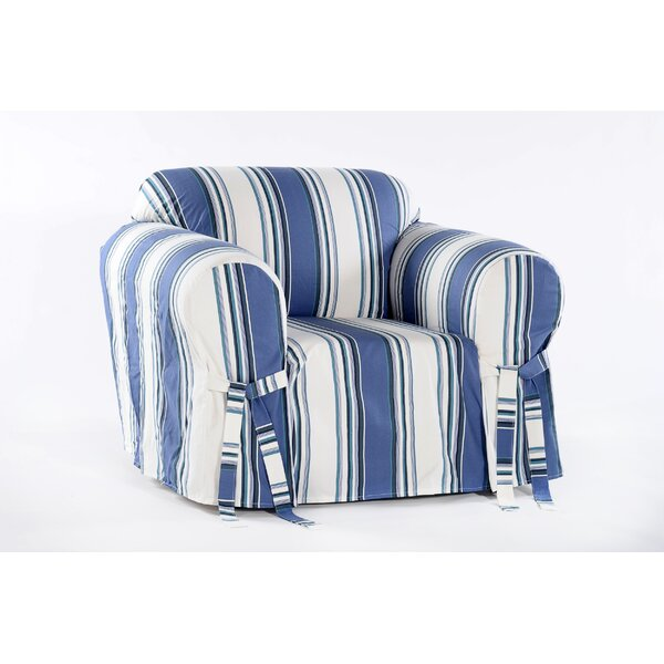 Cotton Duck Box Cushion Armchair Slipcover by Beac