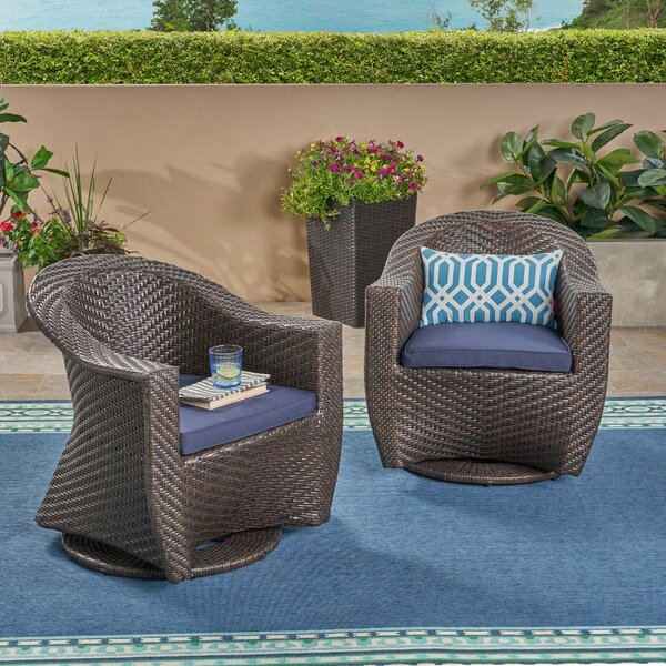 Gaviota Patio Chairs With Cushions (Set Of 2) By Wrought Studio