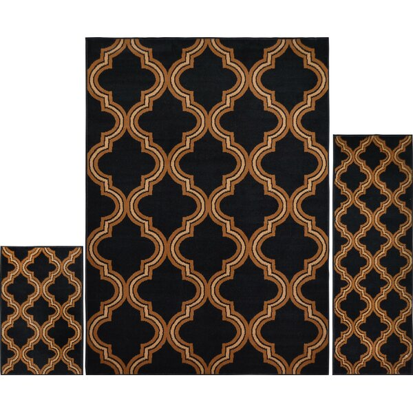Gallaher Ebony Area Rug Set by Charlton Home