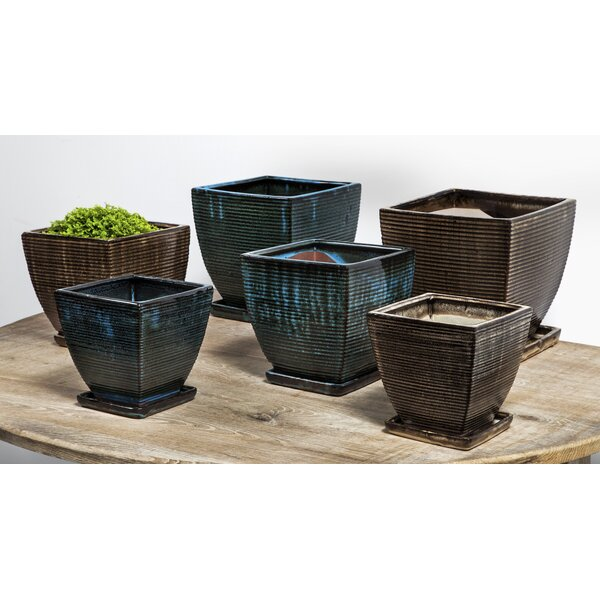 Chelsea 12-Piece Pot Planter Set with Saucer by Campania International