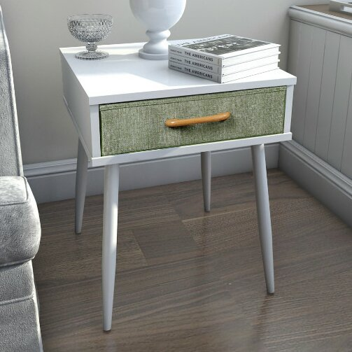 Undercliff End Table With Drawer by George Oliver