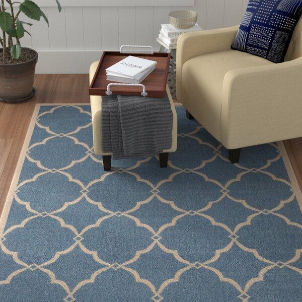 Croker Blue/Cream Area Rug by Red Barrel Studio