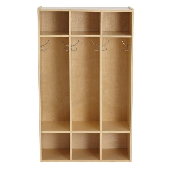 Birch Streamline 3 Section Coat Locker by ECR4kids