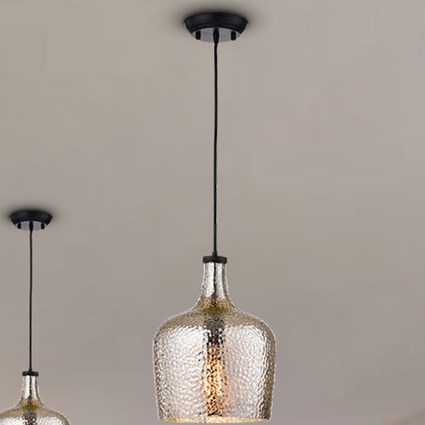 Psyche 1-Light Geometric Pendant by Gracie Oaks