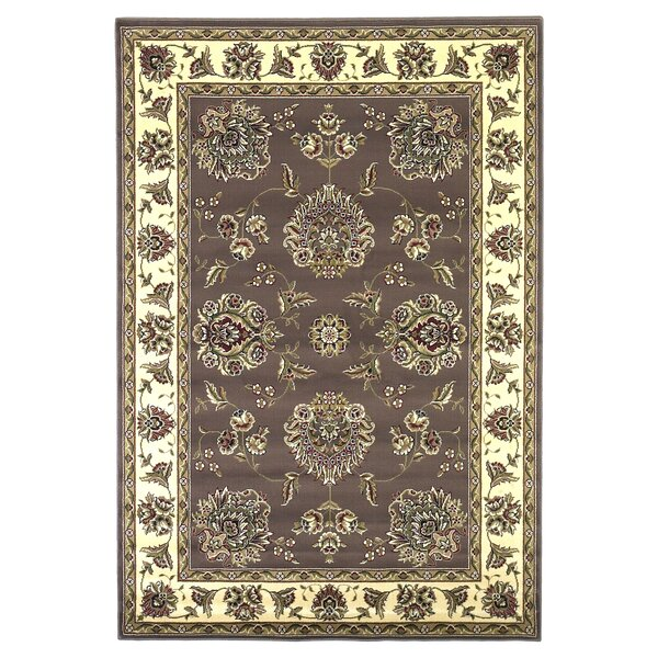 Bellville Plum / Ivory Floral Area Rug by Charlton Home