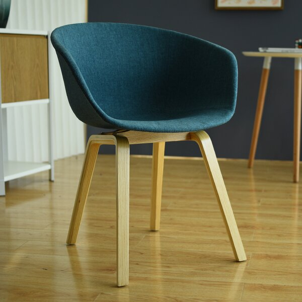 Mekhi Arm Chair with Wooden Legs (Set of 2) by Langley Street