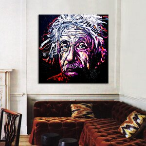 New Einstein 002 by Rock Demarco Graphic Art on Wrapped Canvas by iCanvas