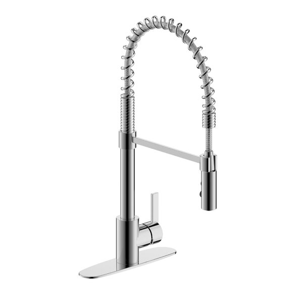 Palais Royal Spring Pull Down Single Handle Kitchen Faucet by Fontaine by Italia Fontaine by Italia