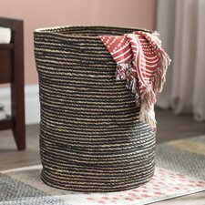 gray storage baskets