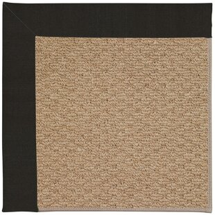 Great Price Lisle Machine Tufted Ebony and Beige Indoor/Outdoor Area Rug By Longshore Tides