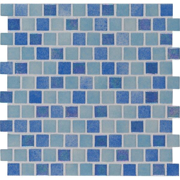 Hawaiian 1 x 1 Glass Mosaic Tile in Blue by MSI