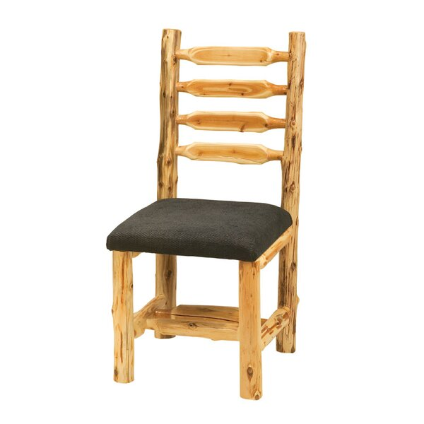 Traditional Cedar Log Upholstered Side Chair by Fireside Lodge