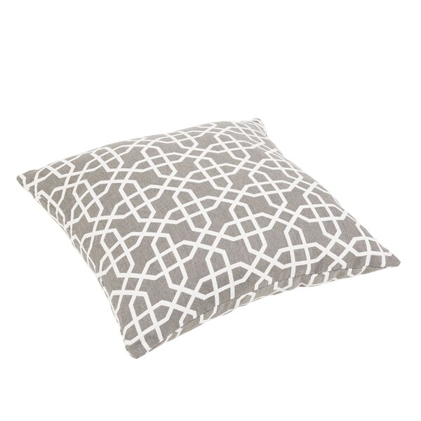 Malcom Geometric Indoor/Outdoor Sunbrella Floor Pillow by Darby Home Co