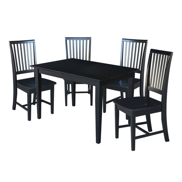 Spratt 5 Piece Extendable Solid Wood Dining Set by August Grove