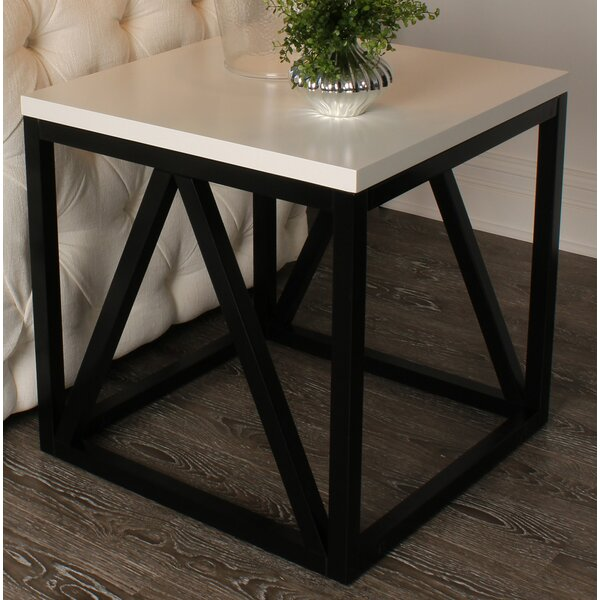 Welty Wood Cube End Table by Red Barrel Studio