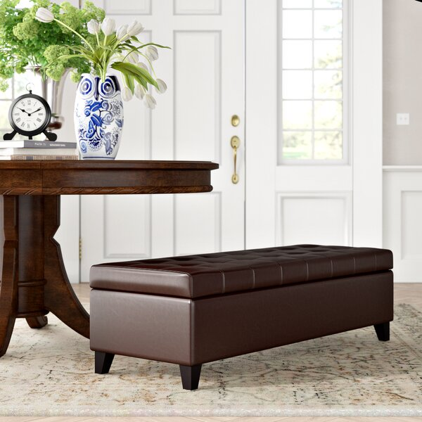 Hoagland Two Seat Storage Bench by Three Posts