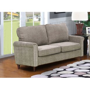 Hayton Fabric Modern Living Room Loveseat