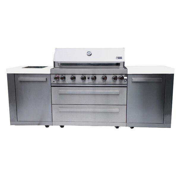 6-Burner Convertible Gas Grill with Cabinet by Mont Alpi